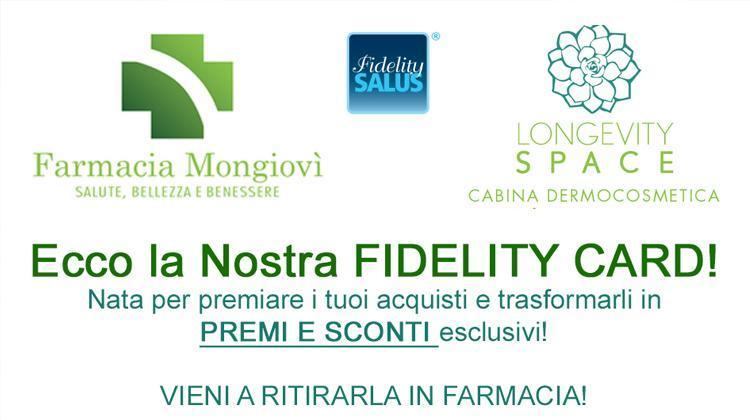 Ed Ecco La Nostra Fidelity Card Farmacia Mongiovi Salute Benessere Bellezza